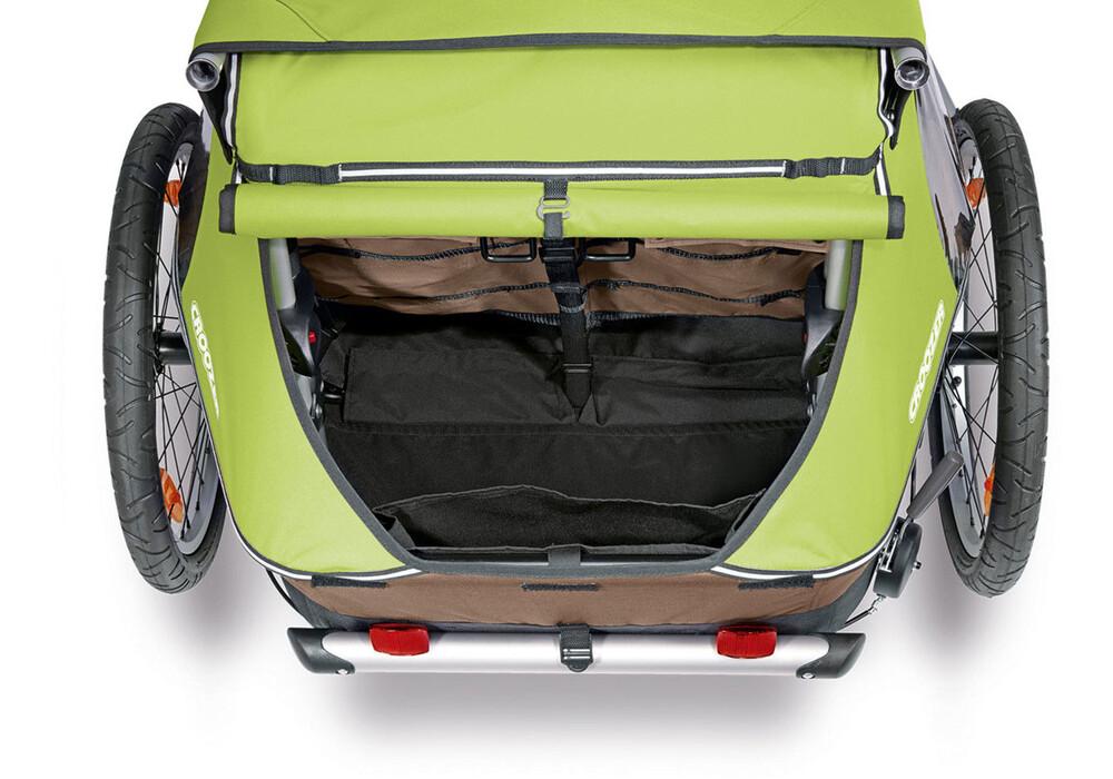 croozer kid for 2 fietstrailer beige groen i voordelig. Black Bedroom Furniture Sets. Home Design Ideas